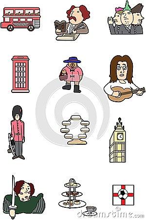 Cartoon England element