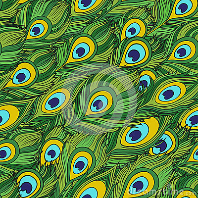 Free Cartoon Ethnic Vector Feathers Seamless Pattern Stock Photo - 40432980