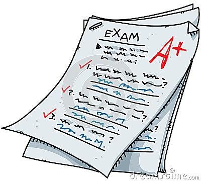Cartoon Exam Royalty Free Stock Image - Image: 22162286