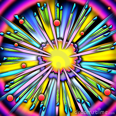 Cartoon explosion frame