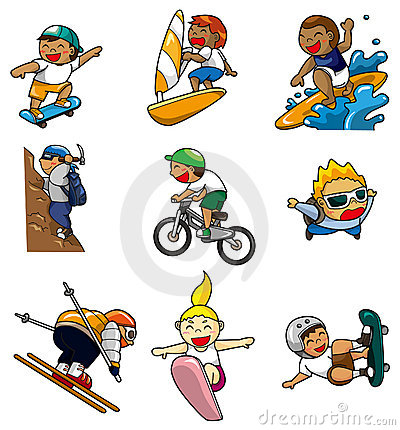Cartoon Extreme sport icon