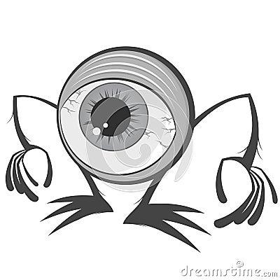 Cartoon eyeball monster