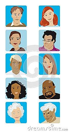 Cartoon Faces Collection