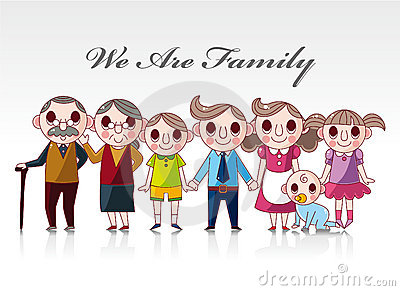 Cartoon family card