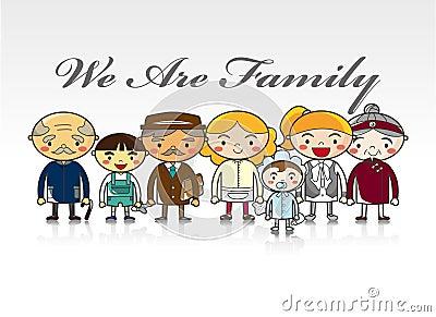 Cartoon family card