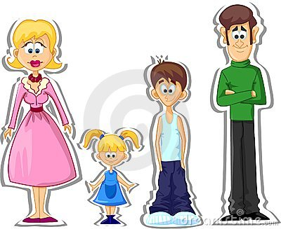 Cartoon family,vector
