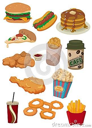Free Cartoon Fast Food Icon Royalty Free Stock Photo - 18229955