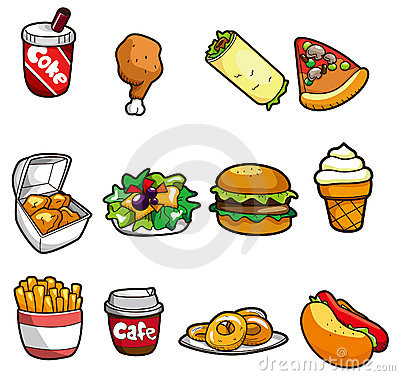 Free Cartoon Fast Food Icon Royalty Free Stock Photography - 18248317