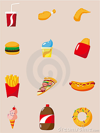 Cartoon fast food icon