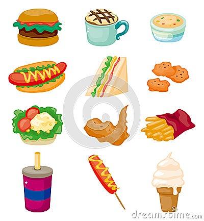 Free Cartoon Fast Food Icon Stock Image - 22208791