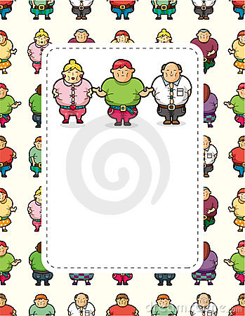 Cartoon Fat people card