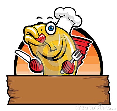 Cartoon of fish chef