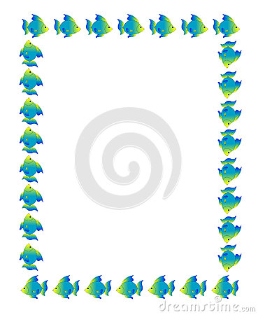 Fish Page Border Fish page border background