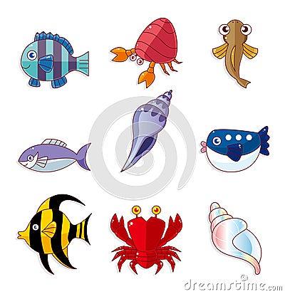 Cartoon fish icons