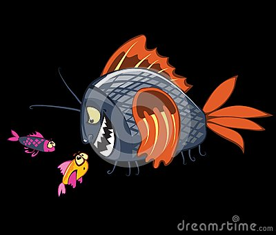 Cartoon fishes characters