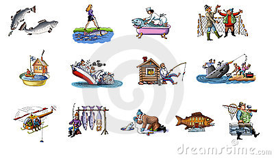 Cartoon about fishing