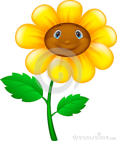 Free Cartoon Flower With Face Stock Photo - 45709960