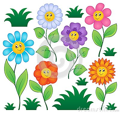 Cartoon flowers collection