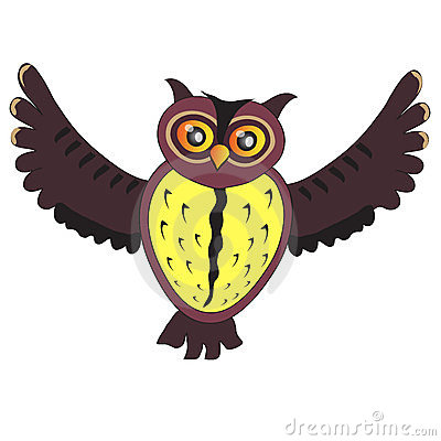 Cartoon flying Owl