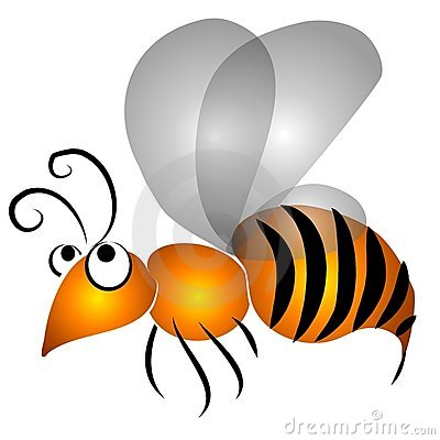 Cartoon Flying Wasp Clip Art