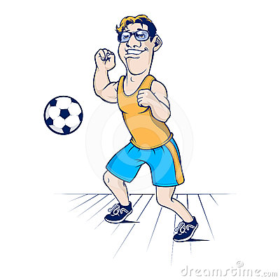 Cartoon football man character