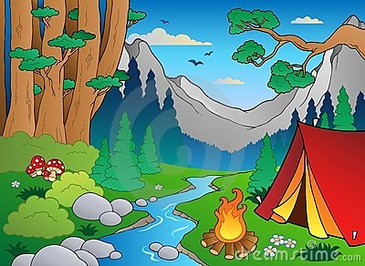 Cartoon forest landscape 4