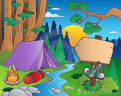 Cartoon forest landscape 6
