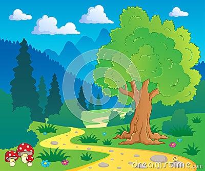 Cartoon forest landscape 8