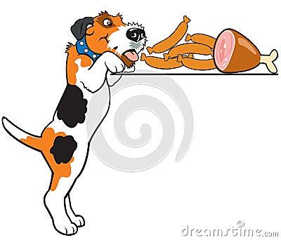 Cartoon fox terrier