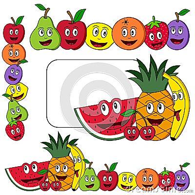 Cartoon Fruit Banners