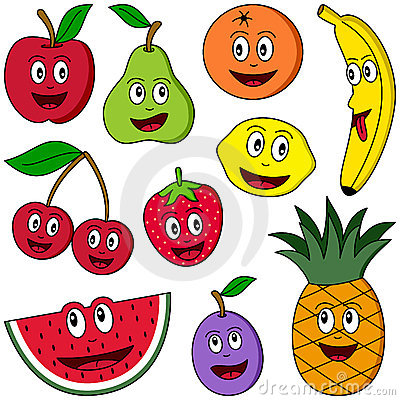 Free Cartoon Fruit Collection Stock Images - 9030524