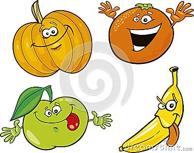 Cartoon fruits
