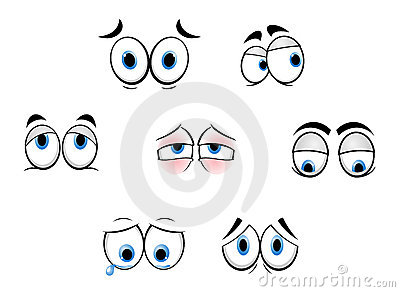 Cartoon funny eyes