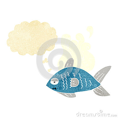 Free Cartoon Funny Fish With Thought Bubble Royalty Free Stock Photography - 52890807