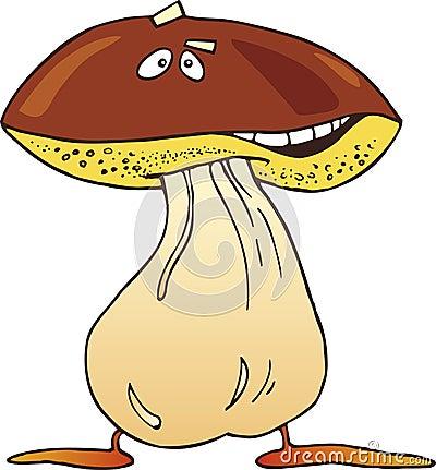 Cartoon funny mushroom