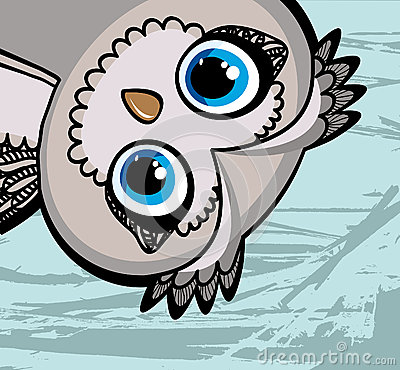 Cartoon funny owl