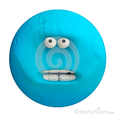 Free Cartoon Funny Planet Plasticine Or Clay. Royalty Free Stock Photo - 54668065