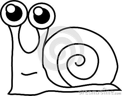 Cartoon funny snail