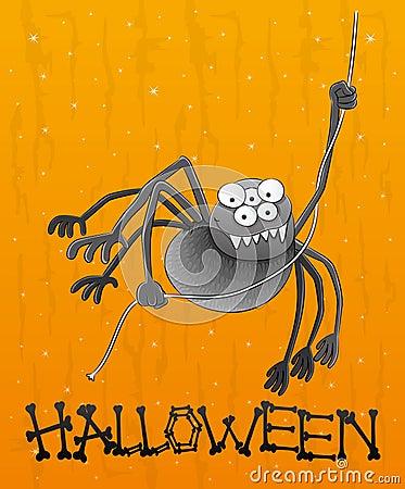 Cartoon funny spider.