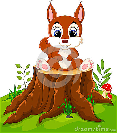Free Cartoon Funny Squirrel Royalty Free Stock Photography - 73472837