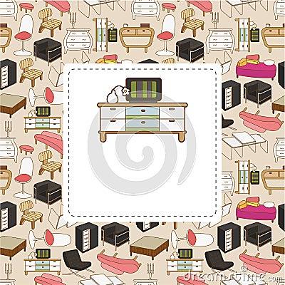 Free Cartoon Furniture Card Stock Images - 19281714