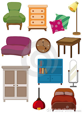 Cartoon furniture icon stock photography image 17788962 - Pictures of furniture ...