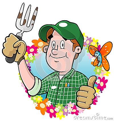 Cartoon Gardener logo