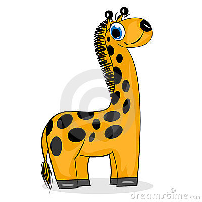 Cartoon giraffe. wild animal