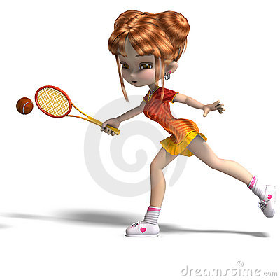 cartoon girl with racket plays tennis royalty free stock tennis racquet clip art black and white tennis racquet clip art free