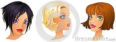 Cartoon Girls Portrait