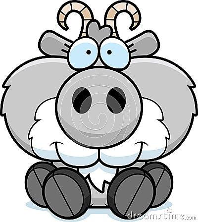Free Cartoon Goat Sitting Royalty Free Stock Photography - 47053607