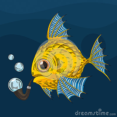 Cartoon gold fish stock vector image 60149242 for Golden fish pipe