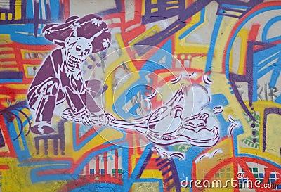 Cartoon Graffiti Editorial Stock Image