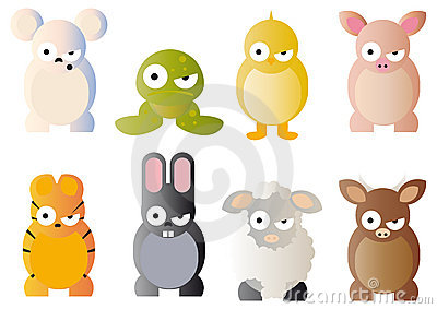 Cartoon graphics of animals